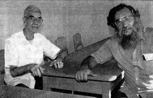 El P. Severino González y el P. José María Calvo